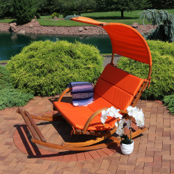 Burnt Orange with Canopy