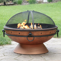 Royal Cauldron Fire Pit, Copper Look