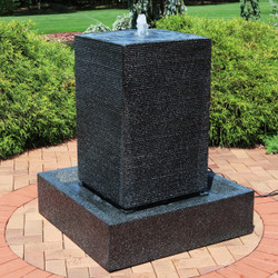 Large Pillar Outdoor Water Fountain with LED Lights