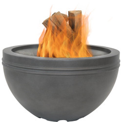 Large Gray Cast Iron Fire Bowl Fire Pit