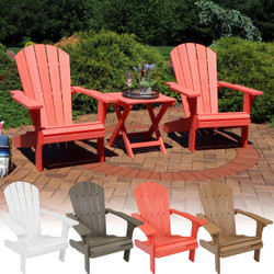 3-Piece All-Weather Adirondack Patio Set