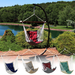 Tufted Victorian Hammock Swing and C-Stand Combo