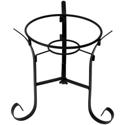 Black Steel Traditional Style Gazing Globe Stand