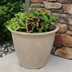 Anjelica Pebble Gray Indoor/Outdoor Planter, Single