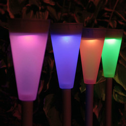 Multi-Color LED Outdoor Solar Garden Landscape Pathway Lights