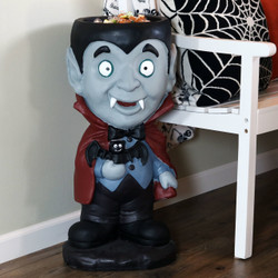 Count Dracula Vampire Halloween Large Statue with Built-In Candy Bowl, Indoors