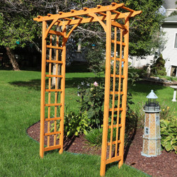 Wooden Arched Outdoor Garden Arbor