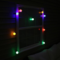 Indoor/Outdoor LED String Lights with 20 Globe Bulbs, Nighttime