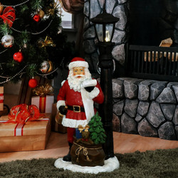 Santa Claus Checking His List Indoor Statue