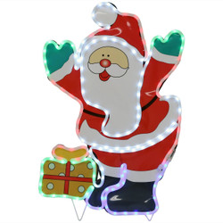 LED Rope Light Santa Claus Decoration