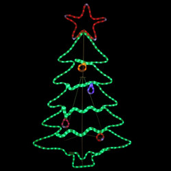 LED Rope Light Christmas Tree Decoration at Night