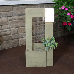 Garden Shower Outdoor Fountain with Light and Planter