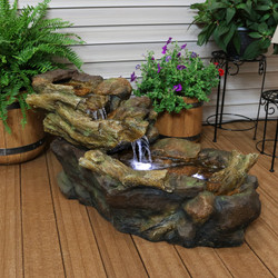 Rocky Falls Streaming River Outdoor Garden Water Fountain