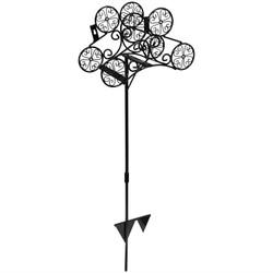 Free-Standing Metal Garden Hose Stand Holder with Clover Design