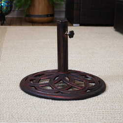 Cast Iron Umbrella Base with Celtic Knot Design