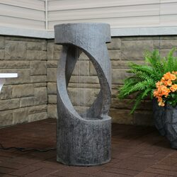 Contemporary Double Helix Outdoor Water Fountain