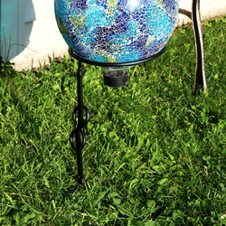 Single Stem Metal Gazing Globe Stand (Gazing Globe Not Included)