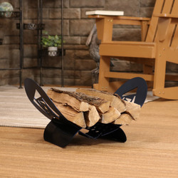 Small Abstract Squares Firewood Log Holder