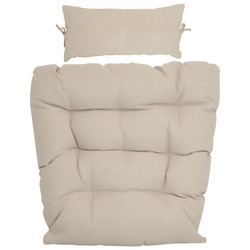 Replacement Seat Cushion and Headrest Pillow for Caroline Egg Chair, Beige