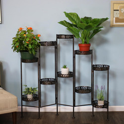 10-Tier Steel Indoor and Outdoor Folding Plant Stand