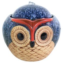 Ceramic Owl Indoor Tabletop Water Fountain