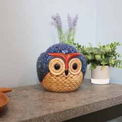 Ceramic Owl Indoor Tabletop Water Fountain