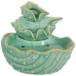 Stacked Tiered Seashells Indoor Tabletop Fountain