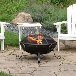 Victorian Steel Outdoor Wood Burning Fire Bowl