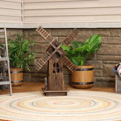 Outdoor Wood Decorative Dutch Windmill