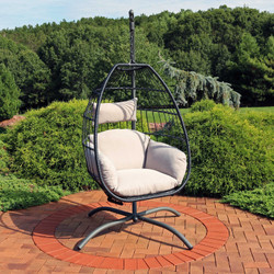 Oliver Hanging Egg Chair with Steel Stand