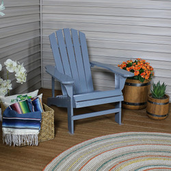 Coastal Bliss Outdoor Wooden Adirondack Patio Chair, Gray