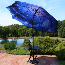 Blue Starry Galaxy Patio Umbrella