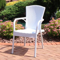 Sunnydaze Segesta Plastic Outdoor Dining Chair