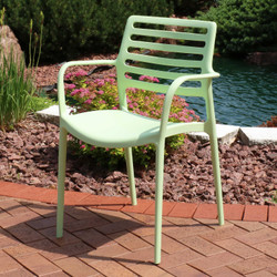 Sunnydaze Astana Plastic Outdoor Dining Chair