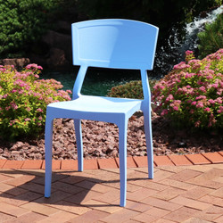 Sunnydaze Elmott All-Weather Plastic Patio Dining Chair Seat