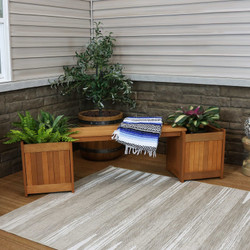 Meranti Wood Outdoor Planter Box Bench