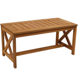 Meranti Wood Outdoor Patio Coffee Table