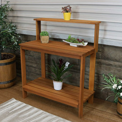Meranti Wood Outdoor Potting Bench