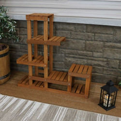 Meranti Wood Multi-Tiered Indoor/Outdoor Plant Stand