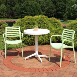 Sunnydaze All-Weather Astana 3-Piece Patio Furniture Dining Set