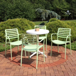 Sunnydaze All-Weather Astana 5-Piece Patio Furniture Dining Set