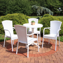 Sunnydaze All-Weather Segesta 5-Piece Patio Furniture Dining Set