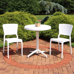 Sunnydaze All-Weather Hewitt 3-Piece Patio Furniture Dining Set