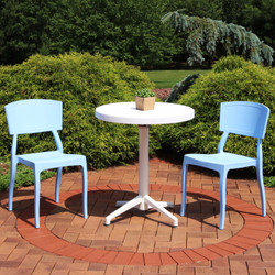 Sunnydaze All-Weather Elmott 3-Piece Patio Furniture Dining Set