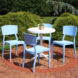 Sunnydaze All-Weather Elmott 5-Piece Patio Furniture Dining Set