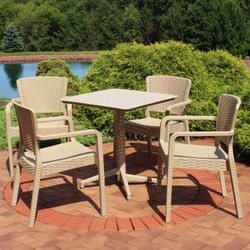 Sunnydaze All-Weather Segonia 5-Piece Patio Furniture Dining Set