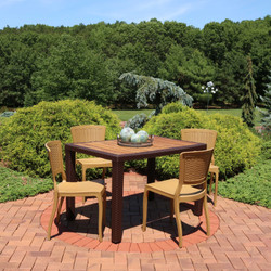 Sunnydaze All-Weather Hewitt 5-Piece Patio Furniture Dining Set