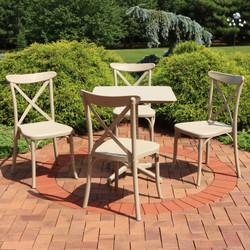 Sunnydaze All-Weather Bellemead 5-Piece Patio Furniture Dining Set