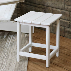 Sunnydaze All-Weather Outdoor Side Table - White