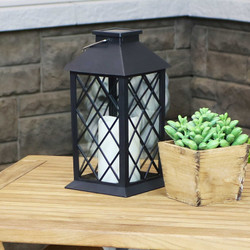 Concord Outdoor Solar LED Decorative Candle Lantern, Single